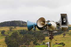 Loudspeaker set at show Royalty Free Stock Images