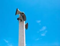 Loudspeaker on sky Stock Photography