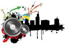 Loudspeaker Skyline Royalty Free Stock Photos