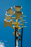 Loudspeaker system. Speaker system installed on a metal post Royalty Free Stock Photography