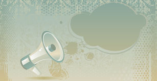 Loudspeaker in vector Stock Image