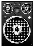 Loudspeaker vector. Music loudspeaker vector illusitration color Royalty Free Stock Images