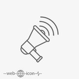 Loudspeaker vector icon Royalty Free Stock Photography