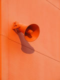 Loudspeaker on the wall Royalty Free Stock Photography