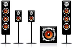 Loudspeakers vector illustration