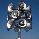 Loudspeakers 3d illustration Stock Photography