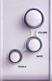 Loudspeakers. Mini loudspeakers system royalty free stock image