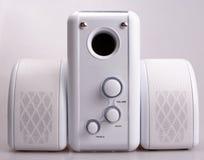 Loudspeakers. Mini loudspeakers system royalty free stock photography