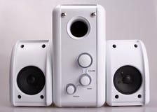 Loudspeakers. Mini loudspeakers system royalty free stock photo