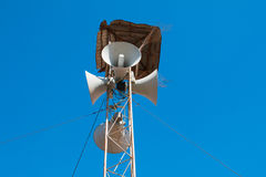 Loudspeakers broadcast Stock Photo