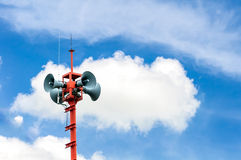 Loudspeakers broadcasting Royalty Free Stock Photography