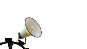 Loudspeakers. Megaphone or loudspeakers isolated on white royalty free stock images