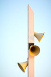 Loudspeakers. On a modern designed must royalty free stock photography