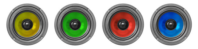 Loudspeakers set Stock Images