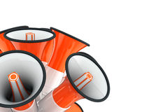 Loudspeakers signal orange Royalty Free Stock Images