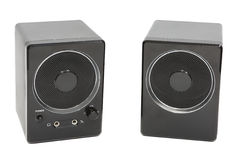 Loudspeakers sound for the computer on a white background. Speaker system. Multimedia. Loudspeakers sound for the computer on a white background Royalty Free Stock Images
