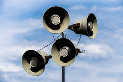Loudspeakers stadium Stock Images