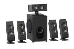 Loudspeakers with subwoofer Royalty Free Stock Photography