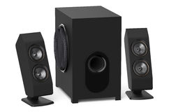 Loudspeakers with subwoofer system 2.1 Stock Images