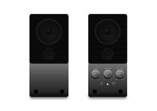 Loudspeakers on a white background Stock Photo