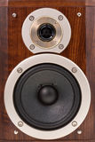 Loudspeakers in wooden box Royalty Free Stock Photography