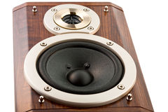 Loudspeakers in wooden box Stock Images