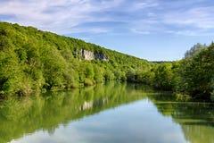 Loue-Fluss Stockbild