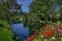 Loue River in Ornans Stock Images