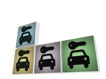 Louez un signe de véhicule Images stock