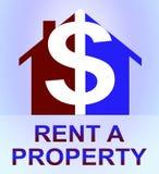 Louez une propriété représente l'illustration 3d de location de Chambre Images stock