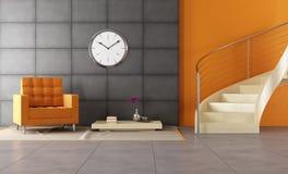 Louge moderno com staicase Imagem de Stock Royalty Free