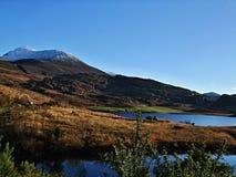 Lough Acoose lake. Under Carrauntoohil, Irelands highest mountain Stock Photos