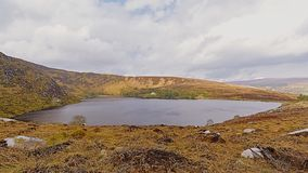 Lough Bray lower lake in Wicklow mountains. National park, Dublin, Ireland stock images
