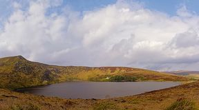 Lough Bray lower lake in Wicklow mountains. National park, Dublin, Ireland royalty free stock photography