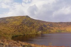 Lough Bray lower lake in Wicklow mountains. National park, Dublin, Ireland stock photography