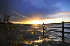 Lough Ennel Sunset Royalty Free Stock Photos
