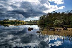 Lough Eske, Co Donegal Irland Arkivbilder