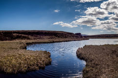 Lough Firrib lake in Ireland. Landscape and Lough Firrib lake in the Wicklow Mountains, County Wicklow, Ireland Stock Image