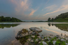 Lough Gur 19-06-2017. Lough Gur Irish: Loch Gair is a lake in County Limerick, Ireland between the towns of Herbertstown and Bruff. The lake forms a horseshoe Royalty Free Stock Photo