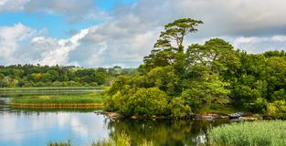 Lake Leane in a sunny morning, in Killarney National Park, County Kerry, Ireland. Stock Photos