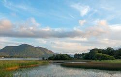 Lough Leane - Meer Leane - op de Ring van Kerry bij Ire van Killarney Ierland royalty-vrije stock afbeelding