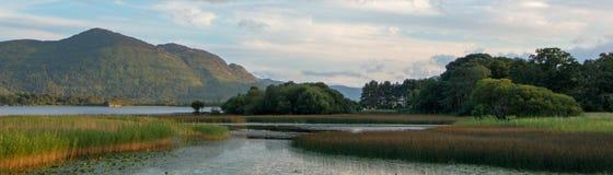Lough Leane - Meer Leane - op de Ring van Kerry bij Ire van Killarney Ierland royalty-vrije stock foto