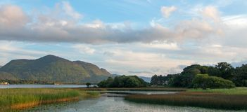 Lough Leane - Meer Leane - op de Ring van Kerry bij Ire van Killarney Ierland stock fotografie