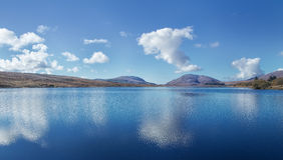Lough Mourne, Barnesmore, Co Donegal Irland royaltyfri foto