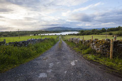 Lough Road Landscape Ireland Stock Photo