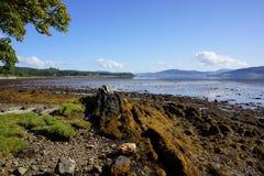Lough Swilly brzeg linia Zdjęcia Royalty Free
