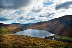 Lough Tay county Wicklow Ireland. Beautiful Lough Tay lake in winter county Wicklow Ireland Royalty Free Stock Images