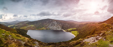 Lough Tay lake. Lough Tay, a small, scenic lake in the Wicklow Mountains in County Wicklow, Ireland royalty free stock photo