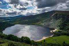 Lough Tay, See in Wicklow irland Stockbild