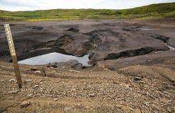 Loughareema,任意地消失的湖,安特里姆郡,北爱尔兰 免版税库存图片